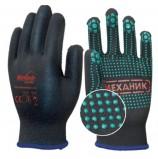 Перчатки Механик Блэк TNG-30 с ПВХ