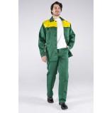 Костюм Стандарт (тк.Смесовая,210) брюки, зеленый/желтый