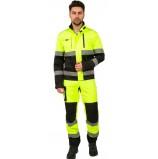 Костюм дорожник Сигнал-1 (тк.Балтекс,210) брюки, лимонный/черный