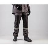 Полукомбинезон лесоруба Волат (тк.Нортон,262) п/к, серый/черный/оранжевый
