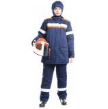 Костюм зимний ДУГА-60k (без подшлемника) (СП08-ЗV), т.синий/оранжевый