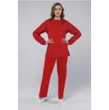 Женский костюм ХАССП-Стандарт (ткань Оптима, 160), красный