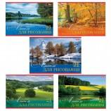 Альбом для рисования, А4, 24 листа, обложка картон, HATBER, 205х290 мм, 'Русские просторы', 24А4В, A17395