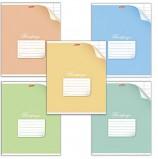 Тетрадь 12 л., HATBER, узкая линия, обложка мелованный картон, 'С уголком', 12Т5В7, T70246