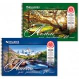 Альбом для рисования, А4, 40 листов, гребень, обложка картон, BRAUBERG, 205х290 мм, 'Удивительная природа', 102832