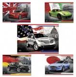 Альбом для рисования, А4, 40 листов, скоба, выборочный лак, HATBER, 205х290 мм, 'Country cars' ('Авто'), 40А4вмB, A090701