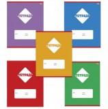 Тетрадь 12 л., HATBER VK, линия, обложка картон, 'ЦВЕТНАЯ' (5 видов), 12Т5C2, T140703