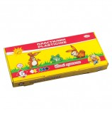 Пластилин классический ГАММА 'Юный художник', 6 цветов, 84 г, со стеком, картонная упаковка, 280042