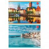 Альбом для рисования, А4, 32 листа, скоба, обложка картон, BRAUBERG, 200х283 мм, 'Города мира', 103684