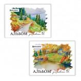Альбом для рисования, А4, 40 листов, скоба, обложка картон, BRAUBERG, 200х283 мм, 'Родные просторы', 103729