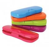 Пенал-футляр СТАММ 'Intensive', пластиковый, непрозрачный, цвет ассорти, ПН62