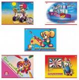 Альбом для рисования, А4, 8 листов, скоба, обложка офсет, HATBER VK 'Маленький художник', 205х290 мм, 8А4C, A033142