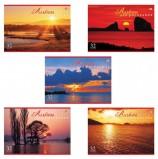 Альбом для рисования, А4, 32 листа, скоба, обложка картон, HATBER VK, 205х290 мм, 'Закаты', 32А4С, A069882