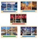 Альбом для рисования, А4, 40 листов, скоба, обложка картон, HATBER VK, 205х290 мм, 'Города мира', 40А4С, A212660