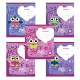 Тетрадь 12 л., ERICH KRAUSE, клетка, обложка картон, 'LUCKY OWL', 42557