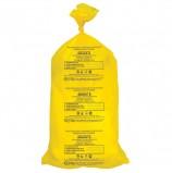 Мешки для мусора медицинские, в пачке 20 шт., класс Б (желтые), 100 л, 60х100 см, 15 мкм, АКВИКОМП