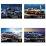 Альбом для рисования, А4, 12 листов, скоба, обложка картон, HATBER, 205х290 мм, 'Автостиль', 12А4В, A212240