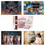 Альбом для рисования, А4, 32 листа, спираль, обложка картон, HATBER, 205х300 мм, 'Ассорти', 32А4Всп, A274705