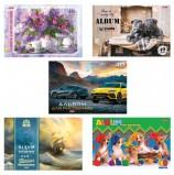 Альбом для рисования, А4, 40 листов, скоба, обложка картон, HATBER, 205х290 мм, 'Ассорти', 40А4В, A274149
