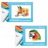 Альбом для рисования, А4, 20 л., скоба, обложка картон, BRAUBERG, 200х283 мм, 'Я рисую мир', 104872