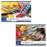 Альбом для рисования, А4, 40 л., скоба, блестки, BRAUBERG, 202х285 мм, 'Палитра', 104879