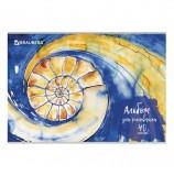 Альбом для рисования А4 40 листов, скоба, обложка картон, BRAUBERG 'ЭКО', 202х285 мм, 'Бесконечность', 105087