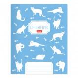 Дневник 1-11 класс 40 л., обложка картон, на скобе, фактурное тиснение, 'Кошечки', HATBER, 40Д5тВ_20784