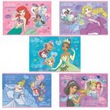 Альбом для рисования, А4, 12 листов, скоба, обложка картон, HATBER, 205х290 мм, 'Принцессы-DISNEY' (5 видов), 12А4В
