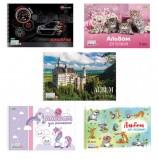 Альбом для рисования, А4, 24 листа, спираль, обложка картон, HATBER 'ECO', 205х300 мм, Ассорти (5 видов), 24А4Cсп