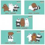 Альбом для рисования, А4, 32 листа, скоба, обложка картон, HATBER, 205х290 мм, 'Вся правда о медведях' (5 вид),32А4В
