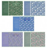 Альбом для рисования А4, 40 листов, скоба, матовая ламинация, HATBER, 205х290 мм, 'Charming garden' (5 видов), 40А4лВ