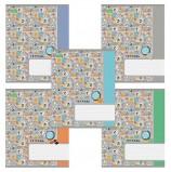 Тетрадь 18 л., HATBER ECO, клетка, обложка картон, 'Вперед за знаниями' (5 видов), 18Т5C1