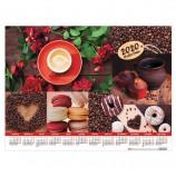 Календарь А2 2020 год, 60х45 см, горизонтальный, 'Coffee Time', HATBER, Кл2_22049
