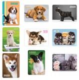 Календарь карманный 2020 год, 7х10 см, ламинированный, 'Щенки', HATBER, 326633, Кк7