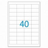Этикетка самоклеящаяся 48,5х25,4 мм, 40 этикеток, белая, 70 г/м2, 50 л., LOMOND, 2100195, (2100195)