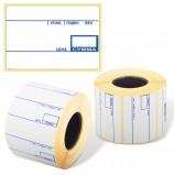 Этикетка ТермоЭко (58х40 мм), 700 этикеток в ролике, С ПРЕПРИНТОМ, светостойкость до 2 месяцев, 122302