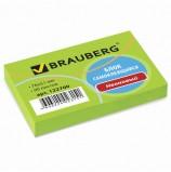Блок самоклеящийся (стикер), BRAUBERG, НЕОНОВЫЙ, 76х51 мм, 90 л., зеленый, 122700