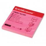 Блок самоклеящийся (стикер) ERICH KRAUSE НЕОН, 75х75 мм, 80 листов, розовый, 7323