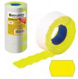 Этикет-лента 26х16 мм, волна, желтая, комплект 5 рулонов по 800 шт., BRAUBERG, 123581