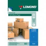 Этикетка самоклеящаяся 210х297 мм, 1 этикетка, голубая, 80 г/м2, 50 л., LOMOND, 2140005