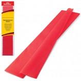 Цветная бумага крепированная BRAUBERG, стандарт, растяжение до 65%, 25 г/м2, европодвес, красная, 50х200 см, 124730