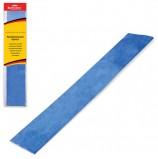 Цветная бумага крепированная BRAUBERG, металлик, растяжение до 35%, 50 г/м2, европодвес, синяя, 50х100 см, 124740