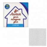 Салфетки бумажные, 100 шт., 24х24 см, 'Лилия Эконом', белые, 100% целлюлоза, 0080