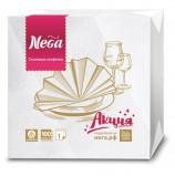 Салфетки бумажные, 100 штук, 24х24 см, 'NEGA' ('Нега'), белые, 100% целлюлоза