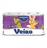 Полотенца бумажные бытовые, спайка 4 шт., 2-х слойные (4х12,5 м), VEIRO (Вейро), белые, 5п24