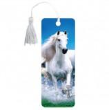 Закладка для книг 3D, BRAUBERG, объемная, 'Белый конь', с декоративным шнурком-завязкой, 125753