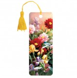 Закладка для книг 3D, BRAUBERG, объемная, 'Цветы', с декоративным шнурком-завязкой, 125777