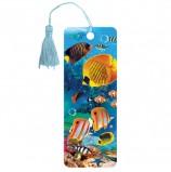 Закладка для книг 3D, BRAUBERG, объемная, 'Экзотические рыбки', с декоративным шнурком-завязкой, 125779
