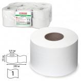 Бумага туалетная 200 м, ЛАЙМА (Система Т2), КОМПЛЕКТ 12 шт., БЕЛАЯ, КЛАССИК, 126093