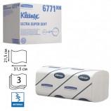 Полотенца бумажные 96 шт., KIMBERLY-CLARK Kleenex, КОМПЛЕКТ 30 шт., Ultra, 3-слойные, белые, 31,5х21,5 см, Interfold, 601533-534, 6771